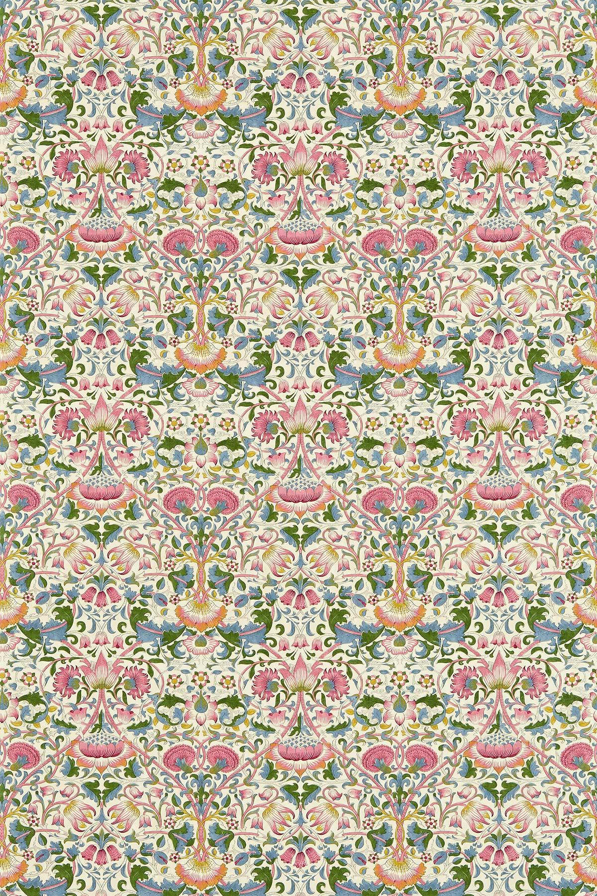 Lodden Fabric - Blush / Woad - by Morris