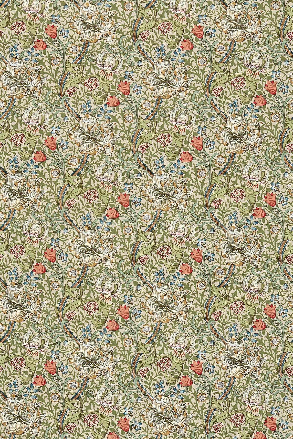 Morris Fabric Golden Lily 226702