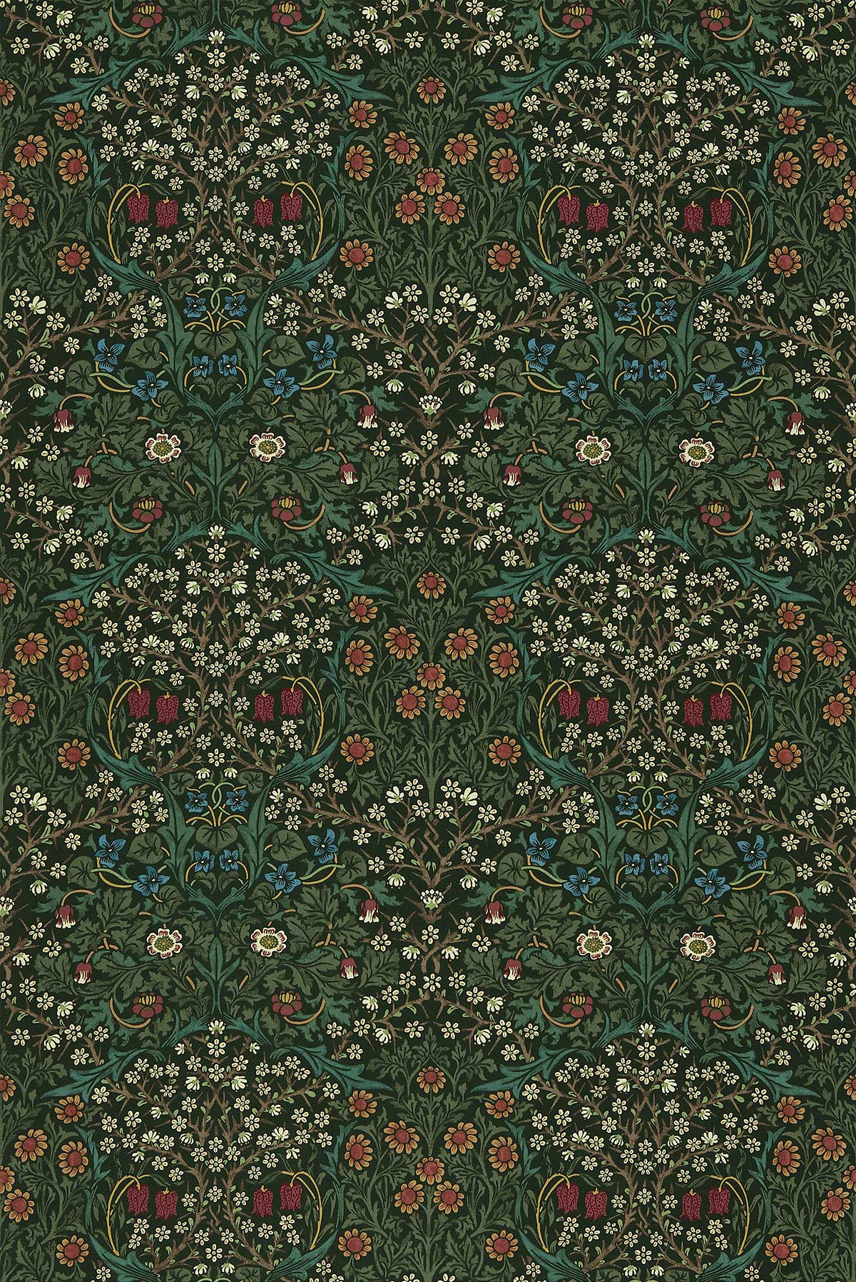 Blackthorn Fabric - Green - by Morris