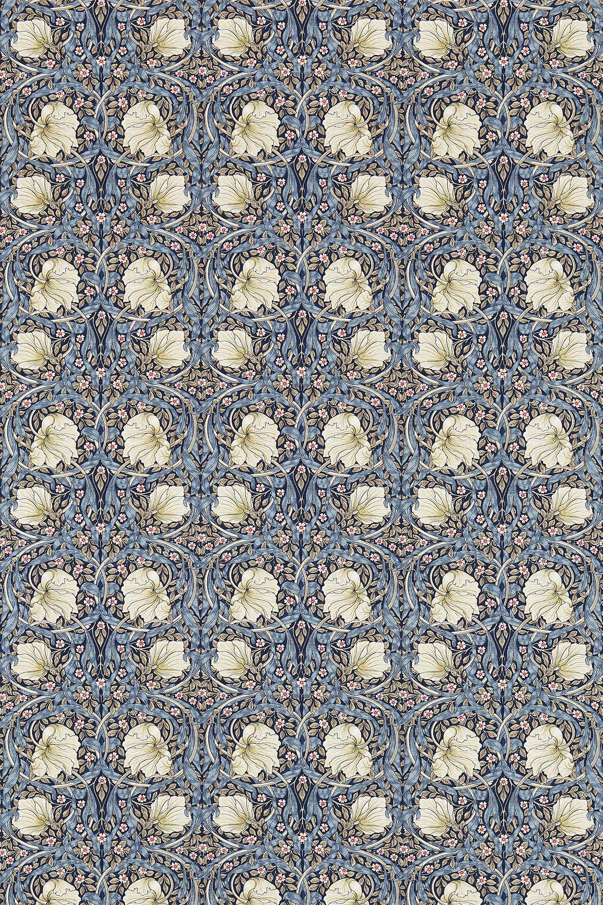 Pimpernel Fabric - Indigo / Hemp - by Morris