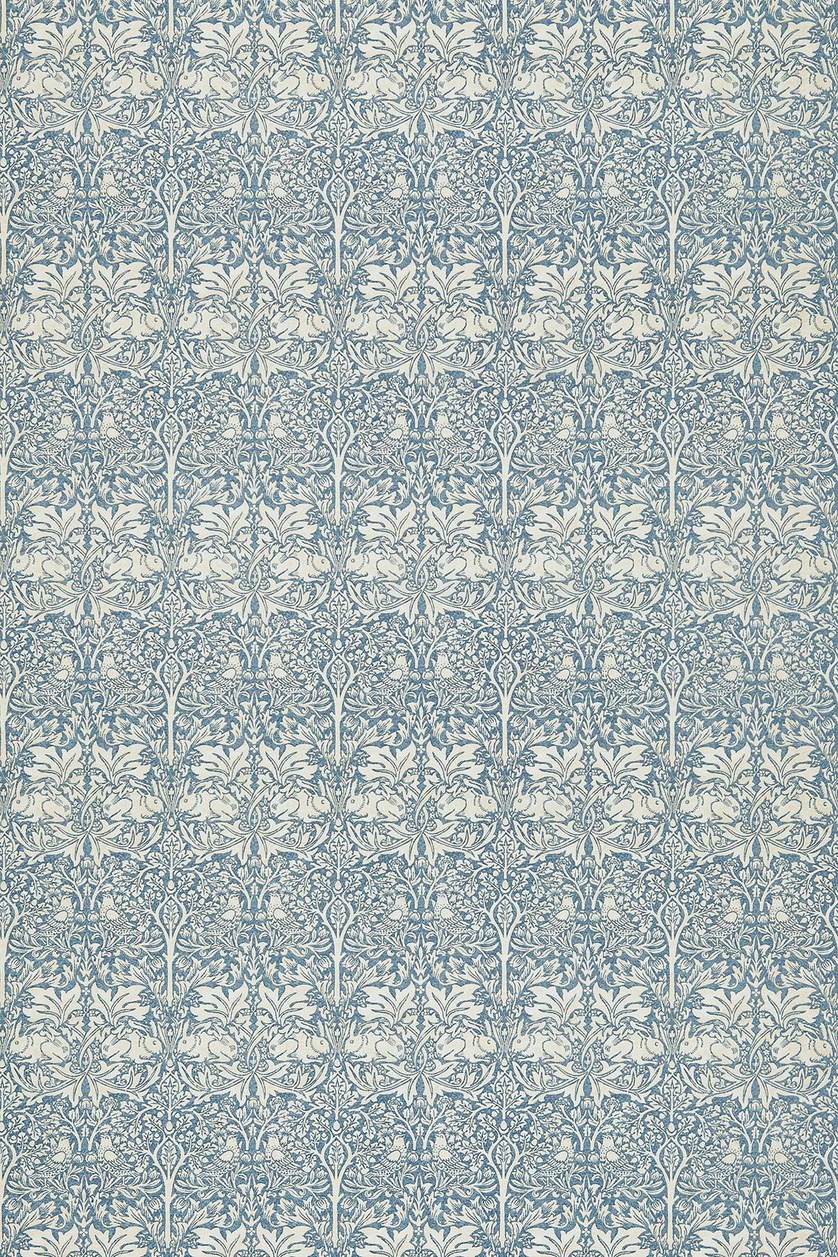 Brer Rabbit Fabric - Slate / Vellum - by Morris