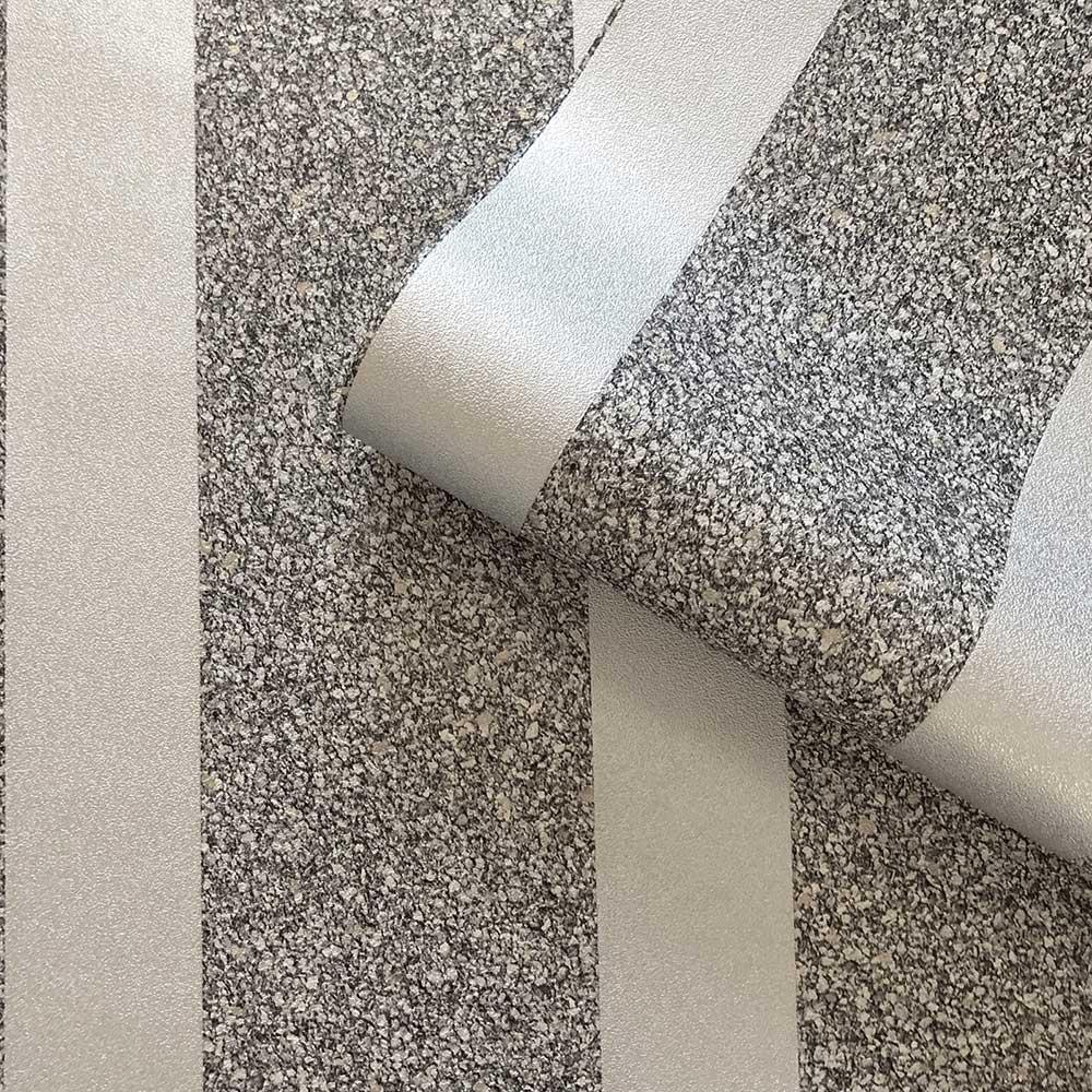 Massima Stripe Wallpaper - Silver - by Albany