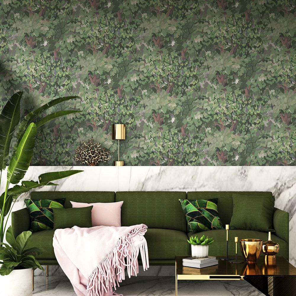Forêt Wallpaper - Spring - by Coordonne