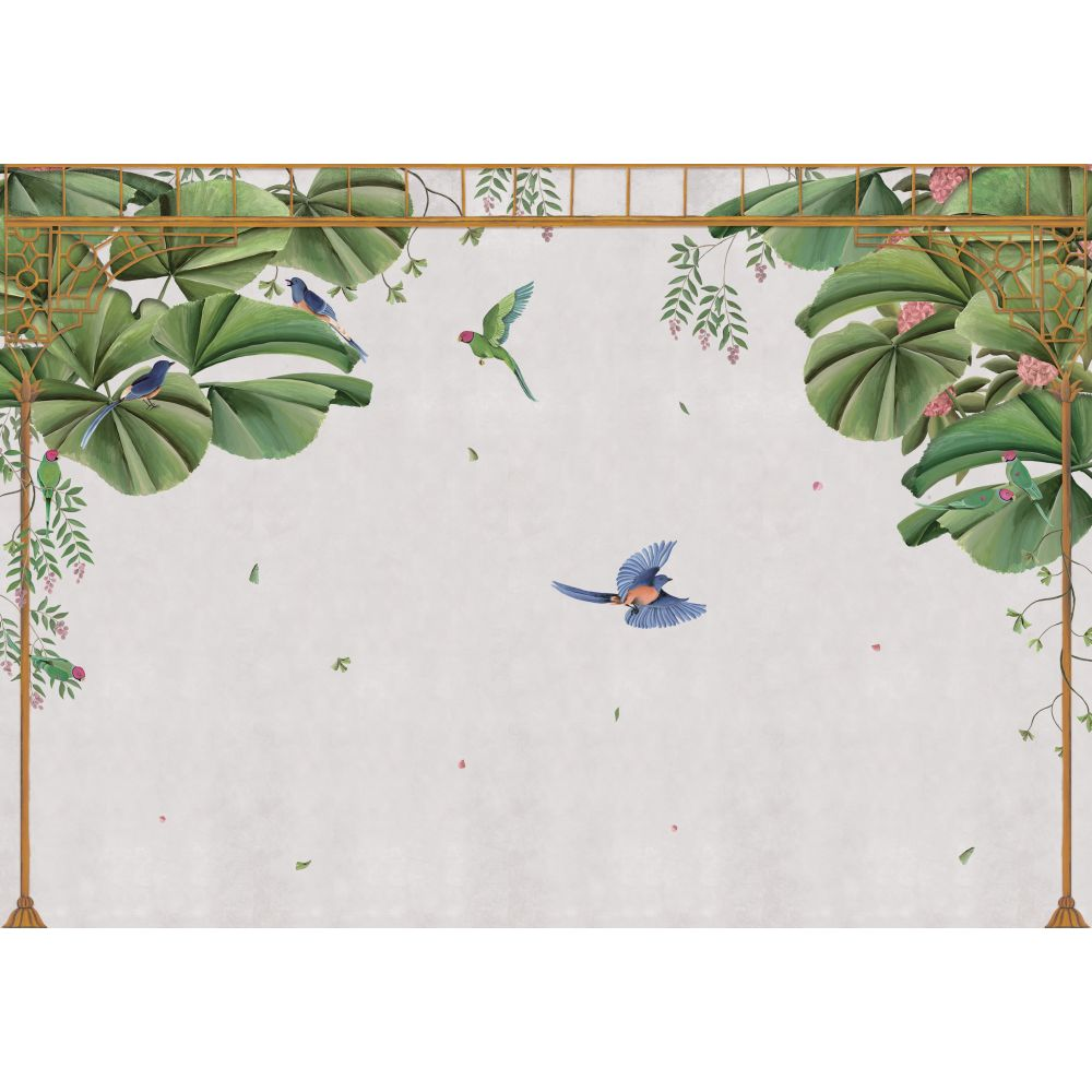 Temple Mural - Swan - by Coordonne