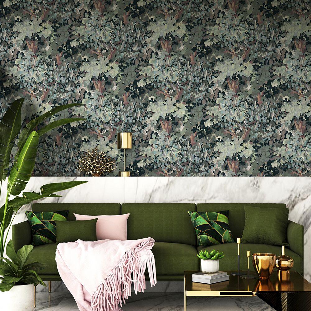 Forêt Wallpaper - Winter - by Coordonne