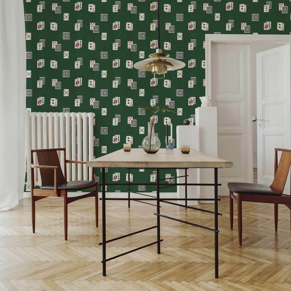 Jeu Wallpaper - Green - by Coordonne