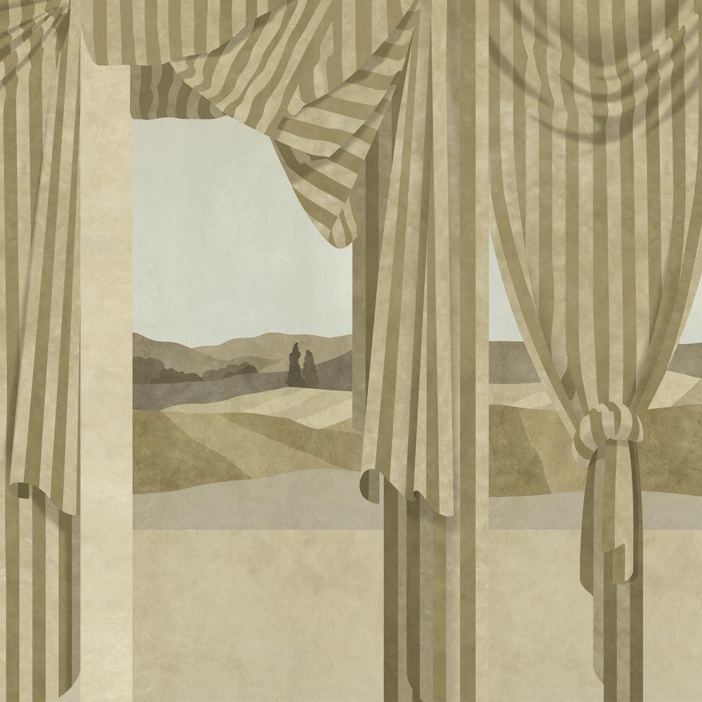 Drapé Mural - Ocher - by Coordonne