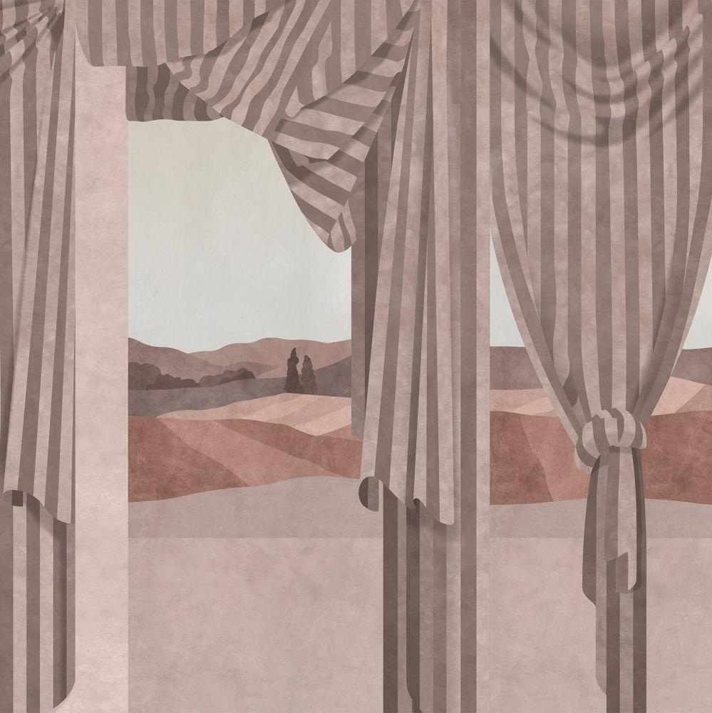 Drapé Mural - Scarlet - by Coordonne