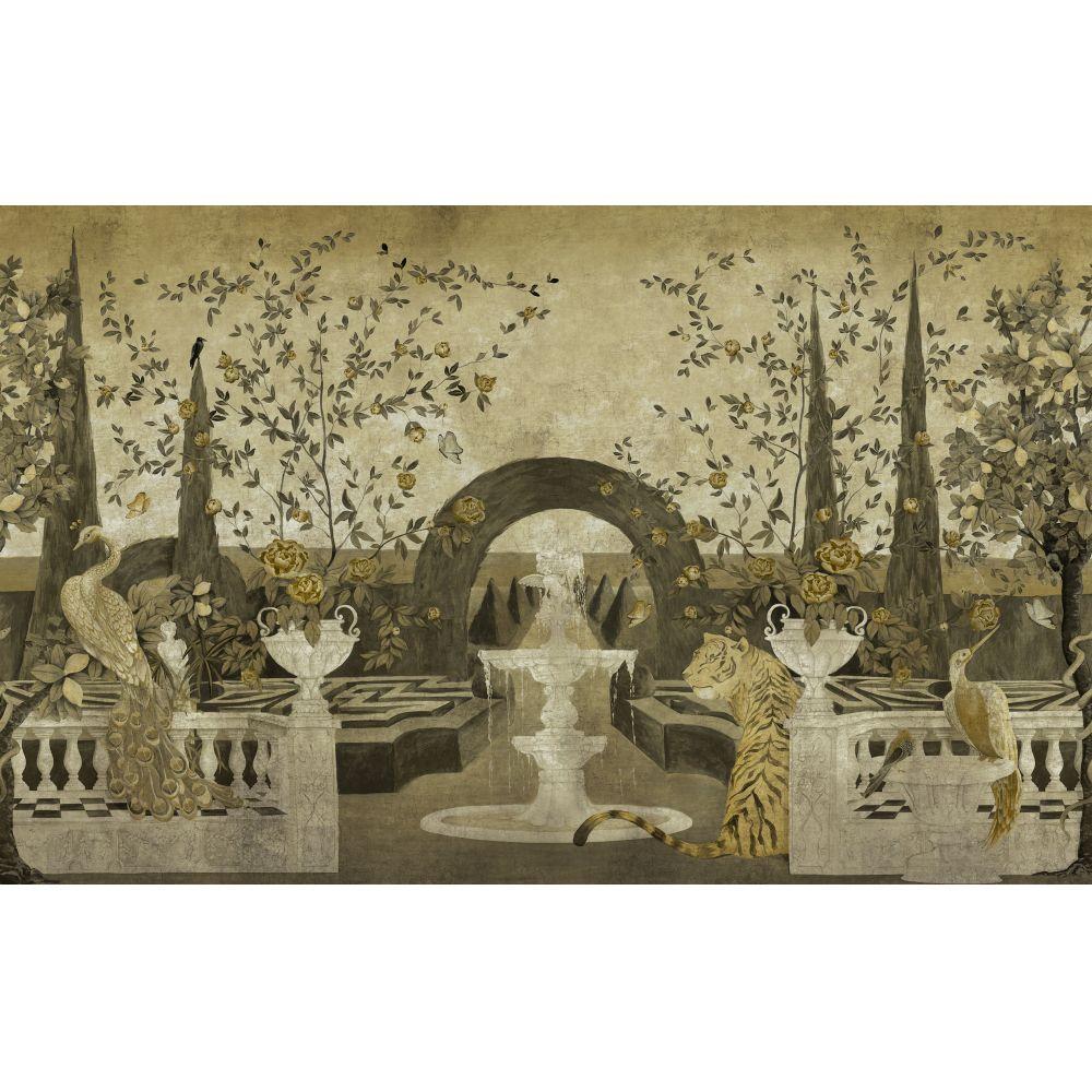 Dédale Mural - Gold - by Coordonne