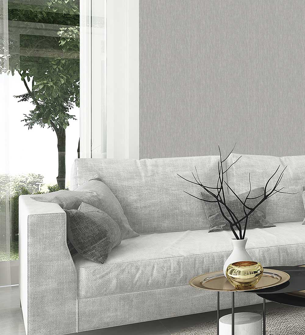 Amara Texture Wallpaper - Silver - by Albany