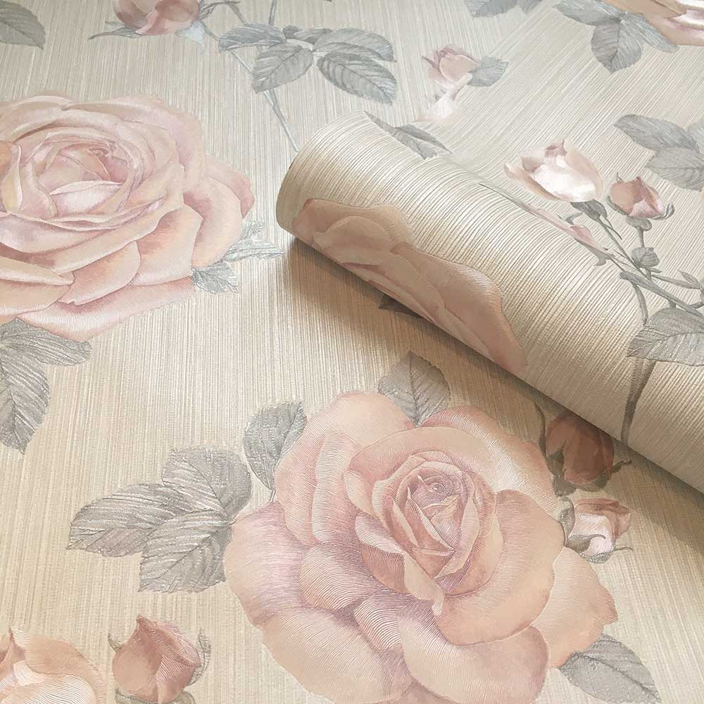 Amara Rose Wallpaper - Blush - by Albany