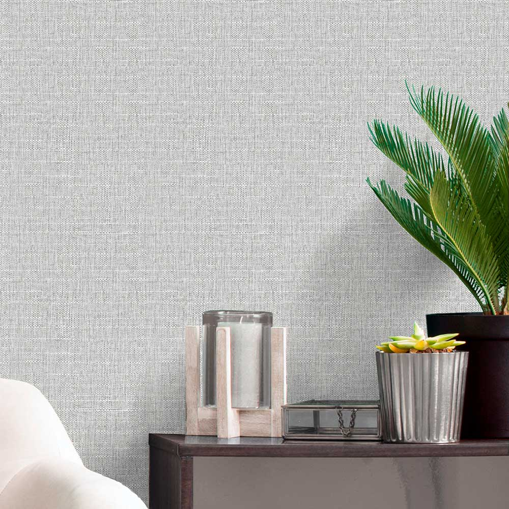 Giorgio Texture Wallpaper - Soft Silver - by Albany