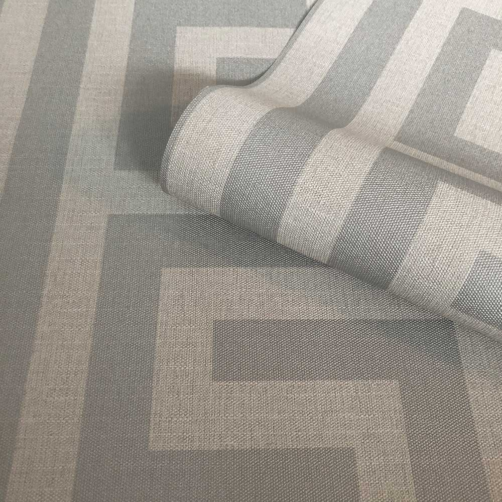 Giorgio Greek Key Wallpaper - Soft Silver - by Albany