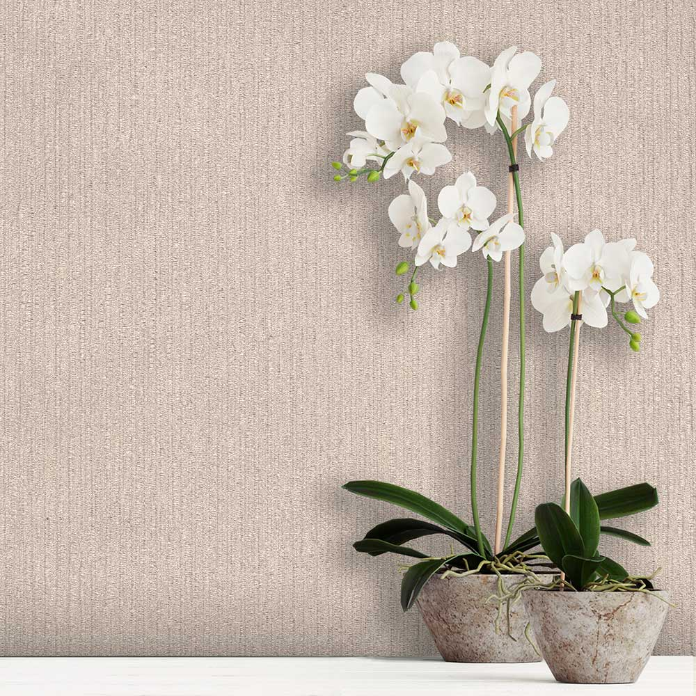 Tilly Texture Wallpaper - Beige - by Albany