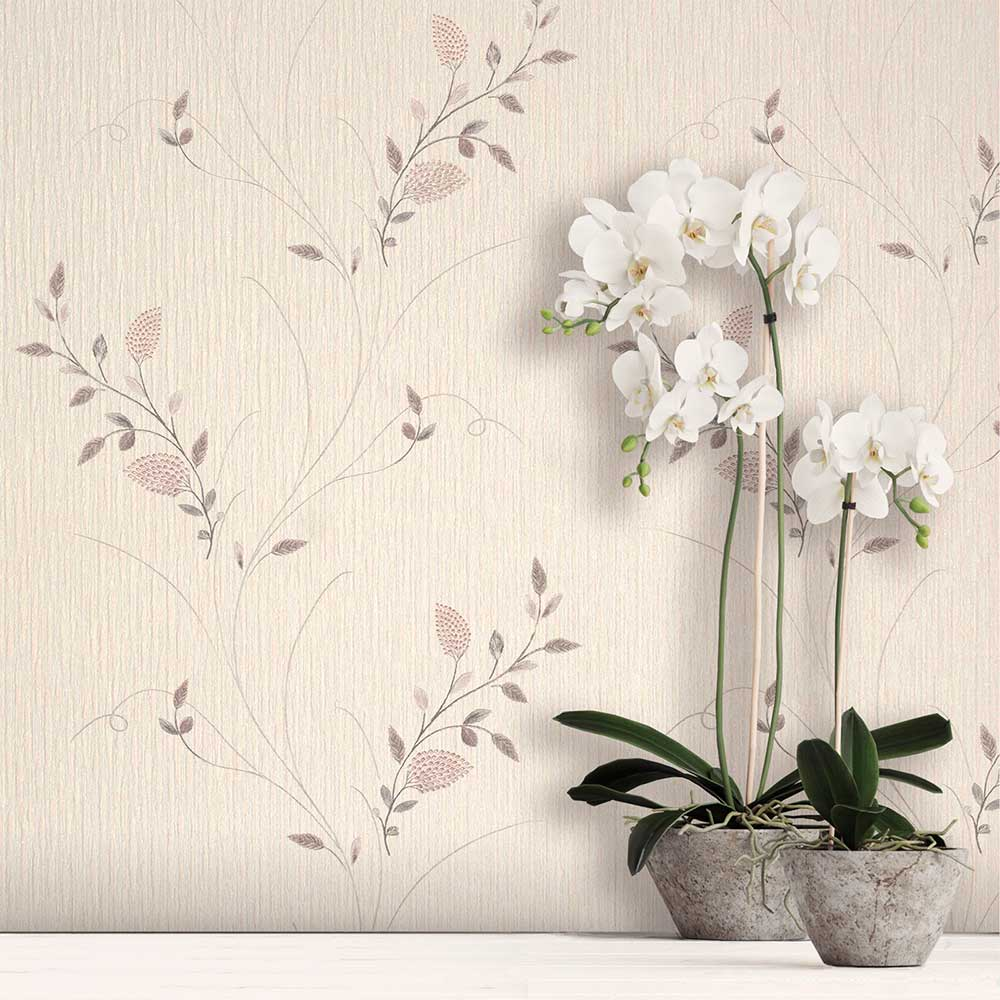 Tilly Trail Wallpaper - Blush - by Albany