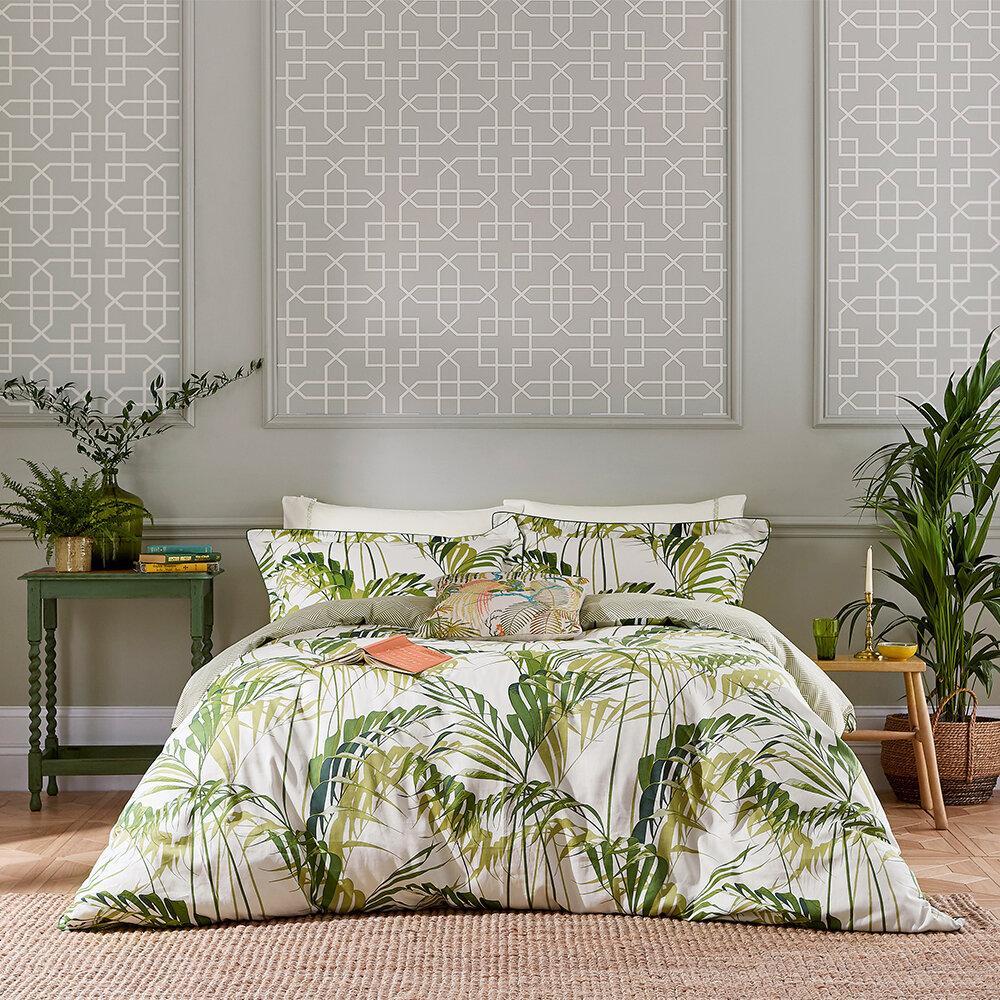 Palm House Duvet Cover - Botanical Green - by Sanderson