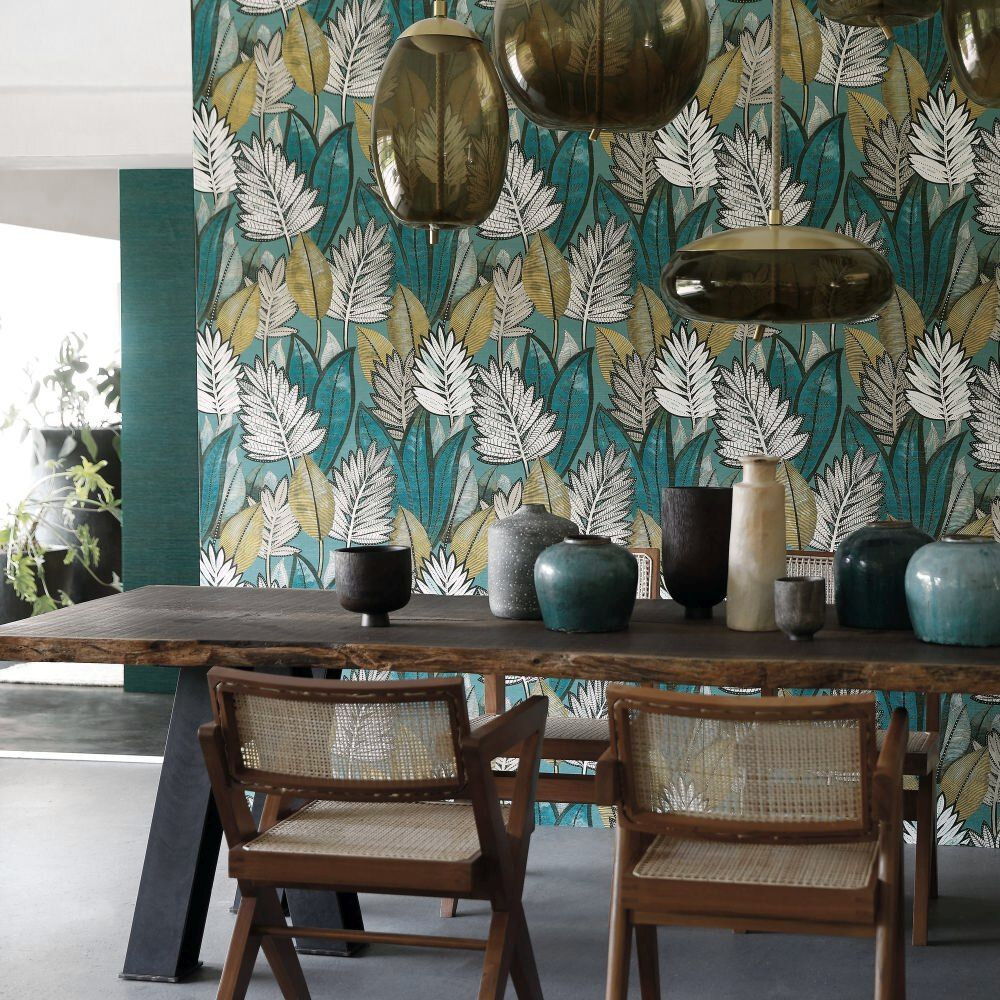 Sabal Wallpaper - Vert D'Eau - by Casamance
