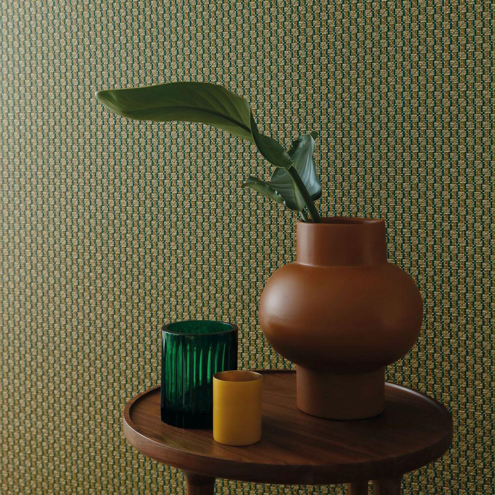 Trenza Wallpaper - Emeraude - by Casamance