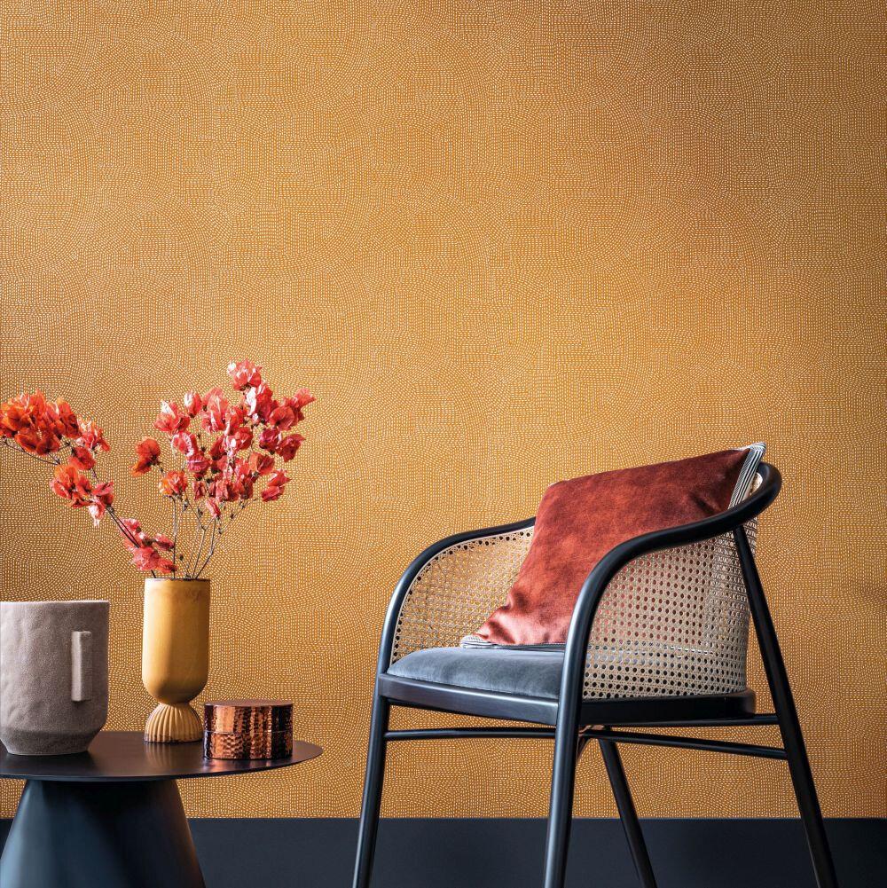 Franz   Wallpaper - Terre De Sienne - by Casamance