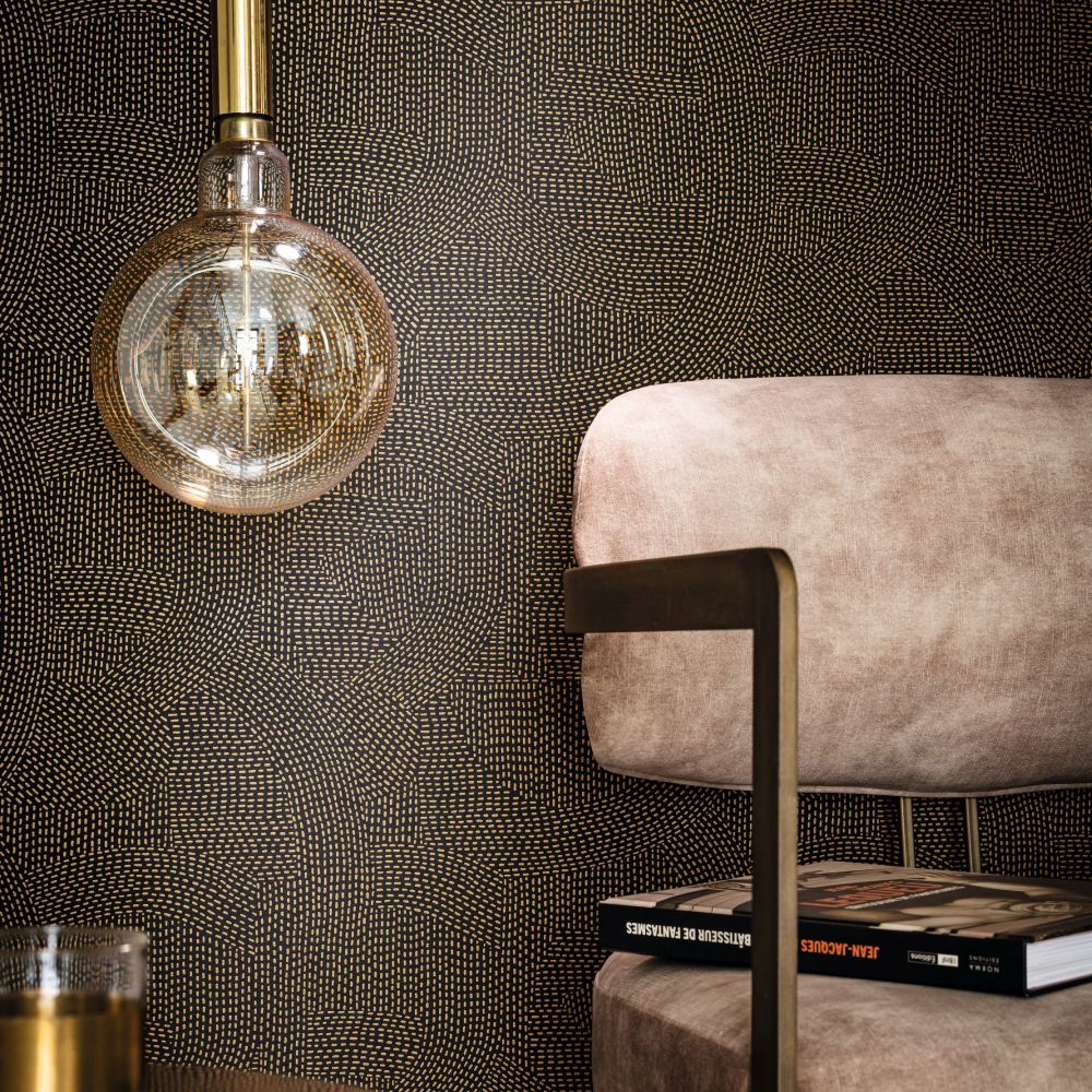 Franz   Wallpaper - Carbone - by Casamance