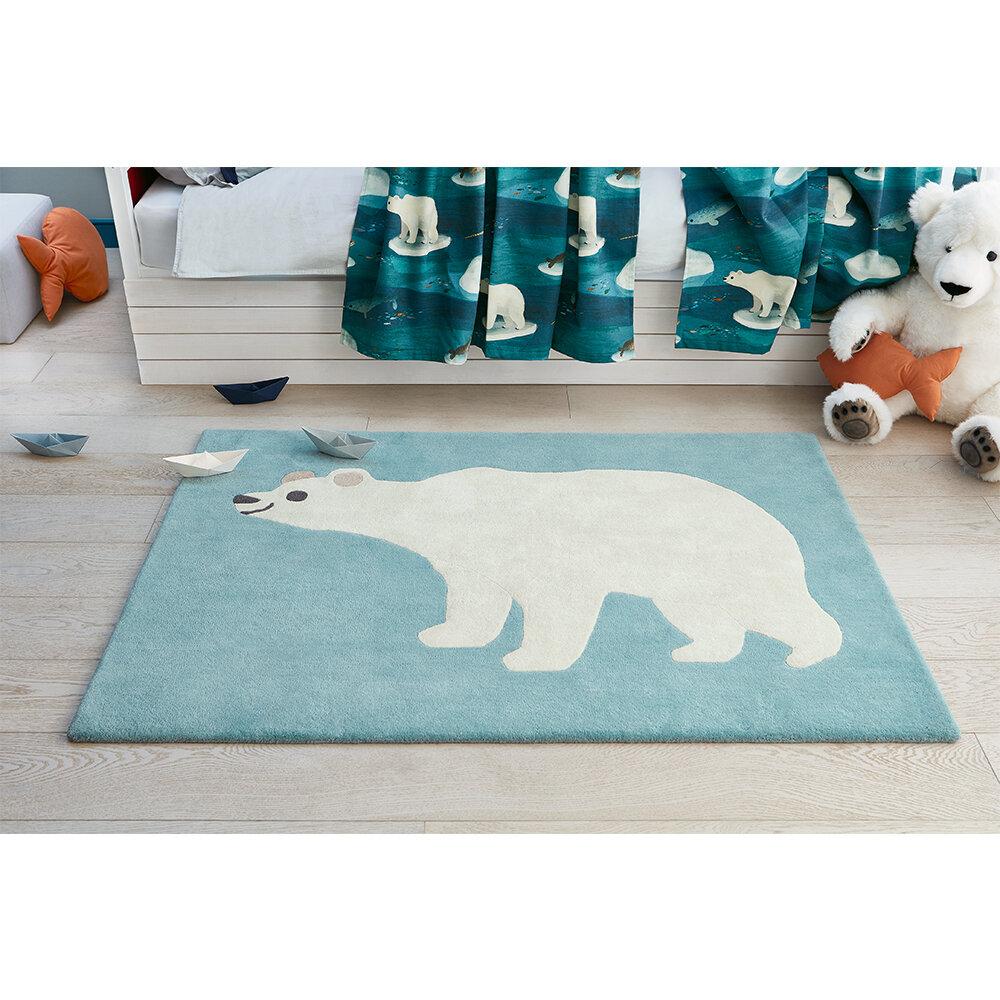 Arctic Bear Rug - Arctic Blue - by Villa Nova