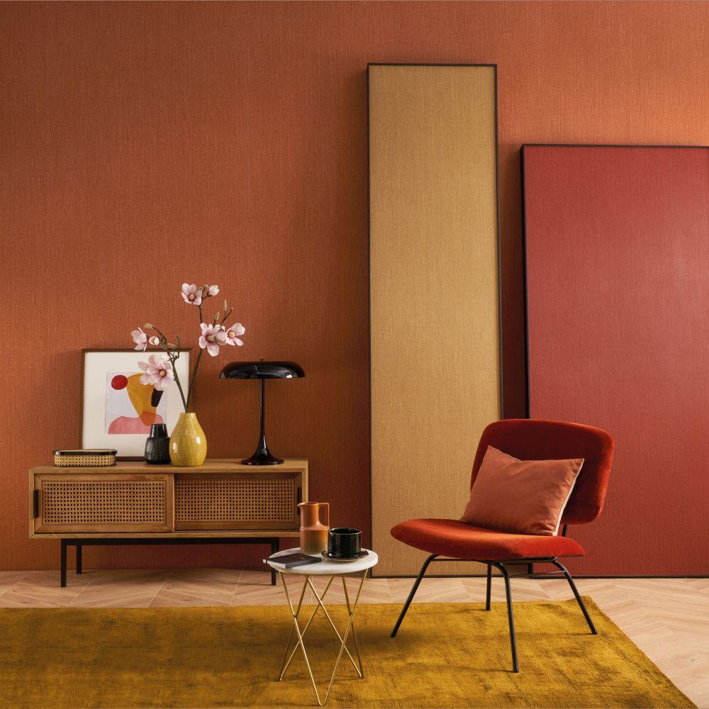 Goa Wallpaper - Orange Brulee - by Casamance