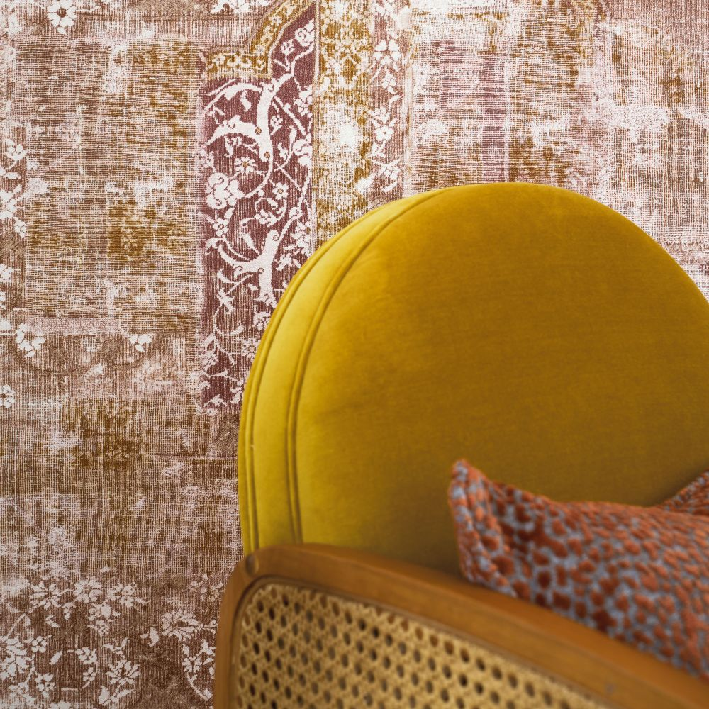 Galeecha Wallpaper - Terracotta - by Casamance