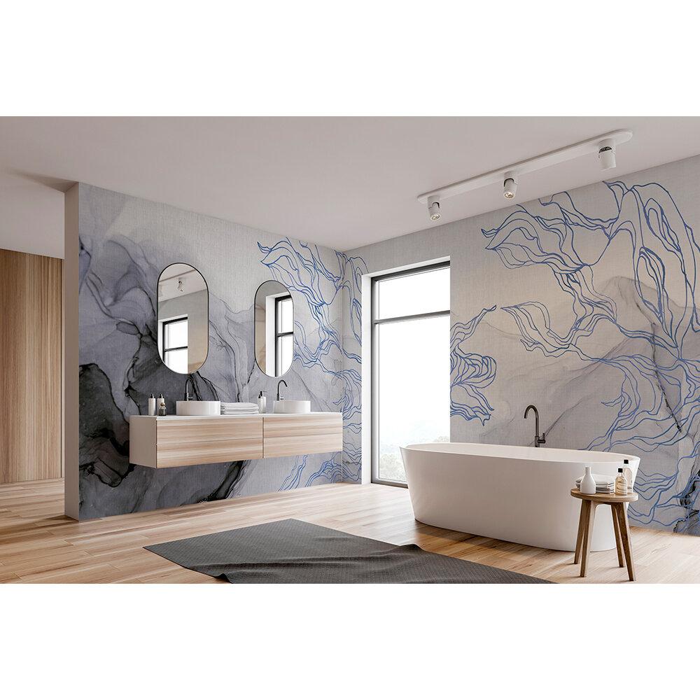 Aurora Borealis Mural - Indigo - by Coordonne