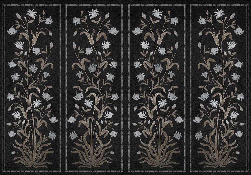 Daffodil Mural - Black - by Coordonne