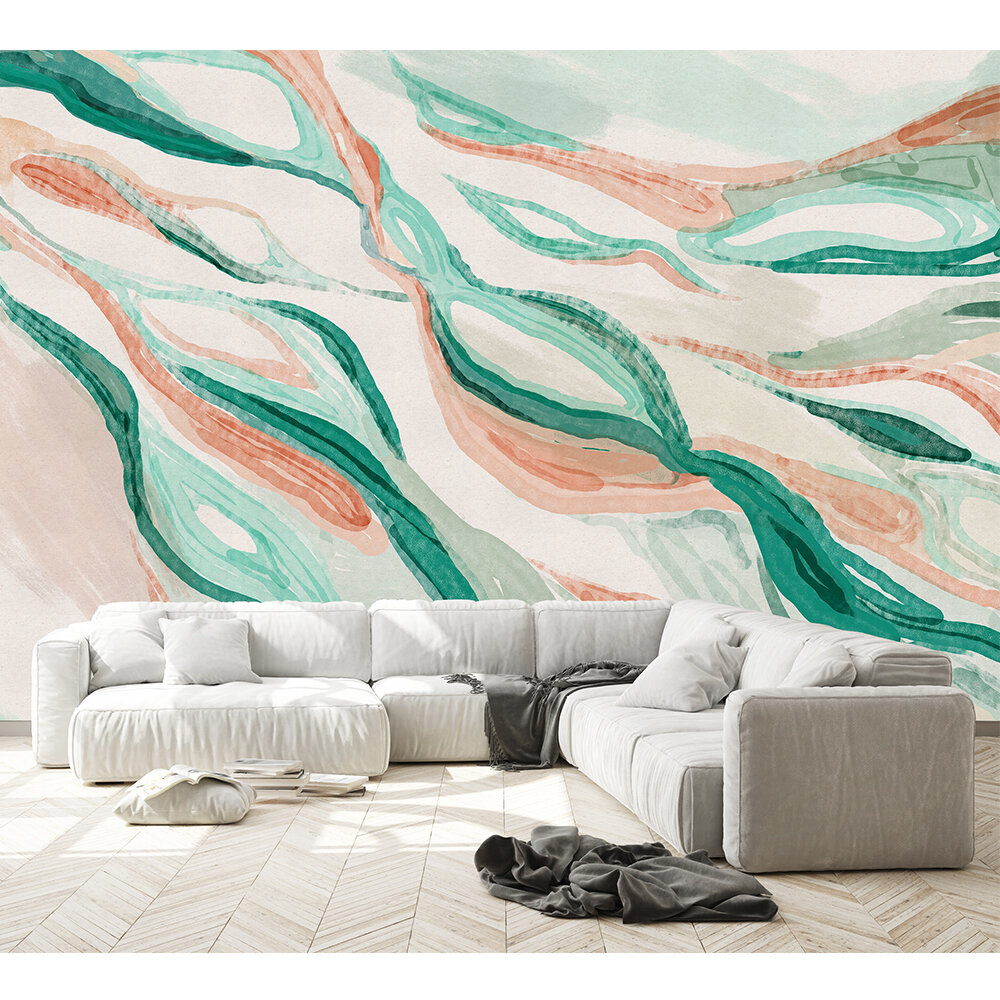 Hygge Mural - Emerald - by Coordonne