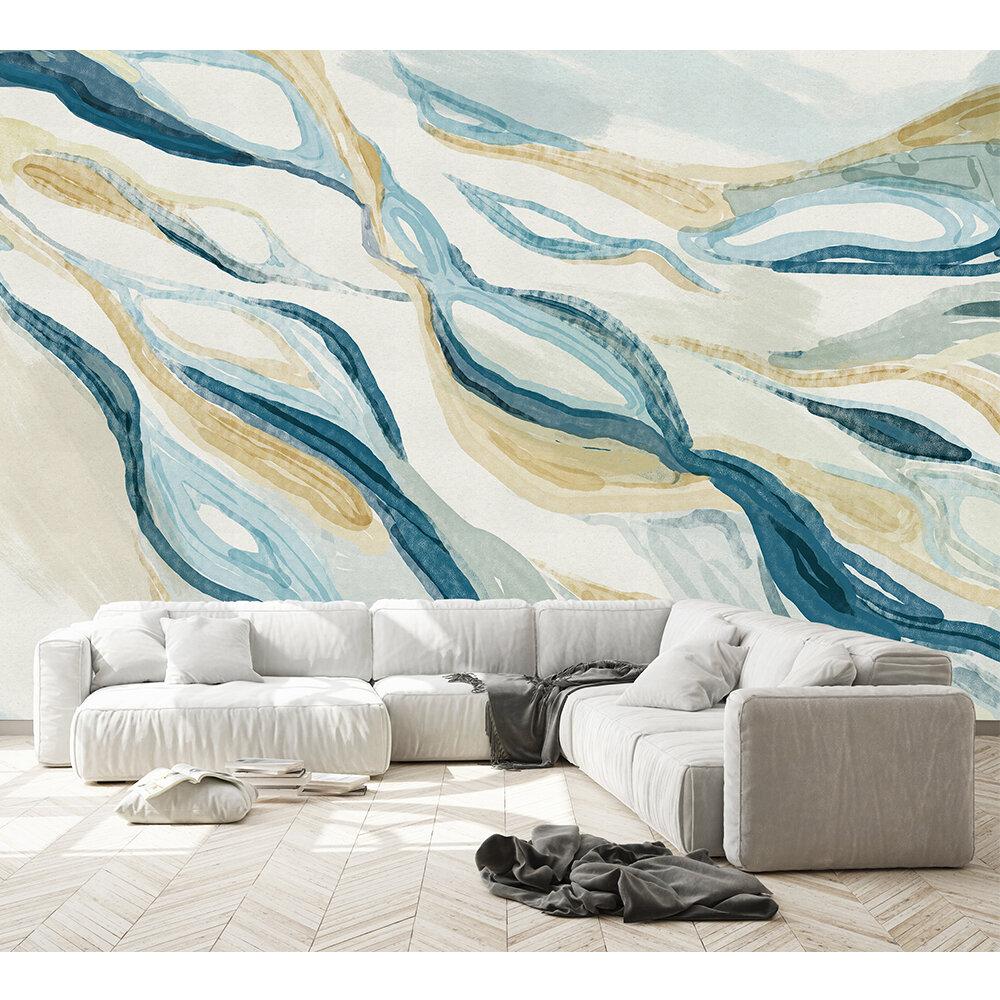 Hygge Mural - Blue - by Coordonne