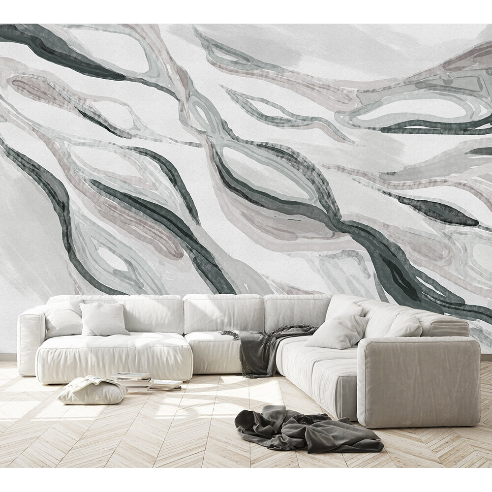 Hygge Mural - Monochrome - by Coordonne