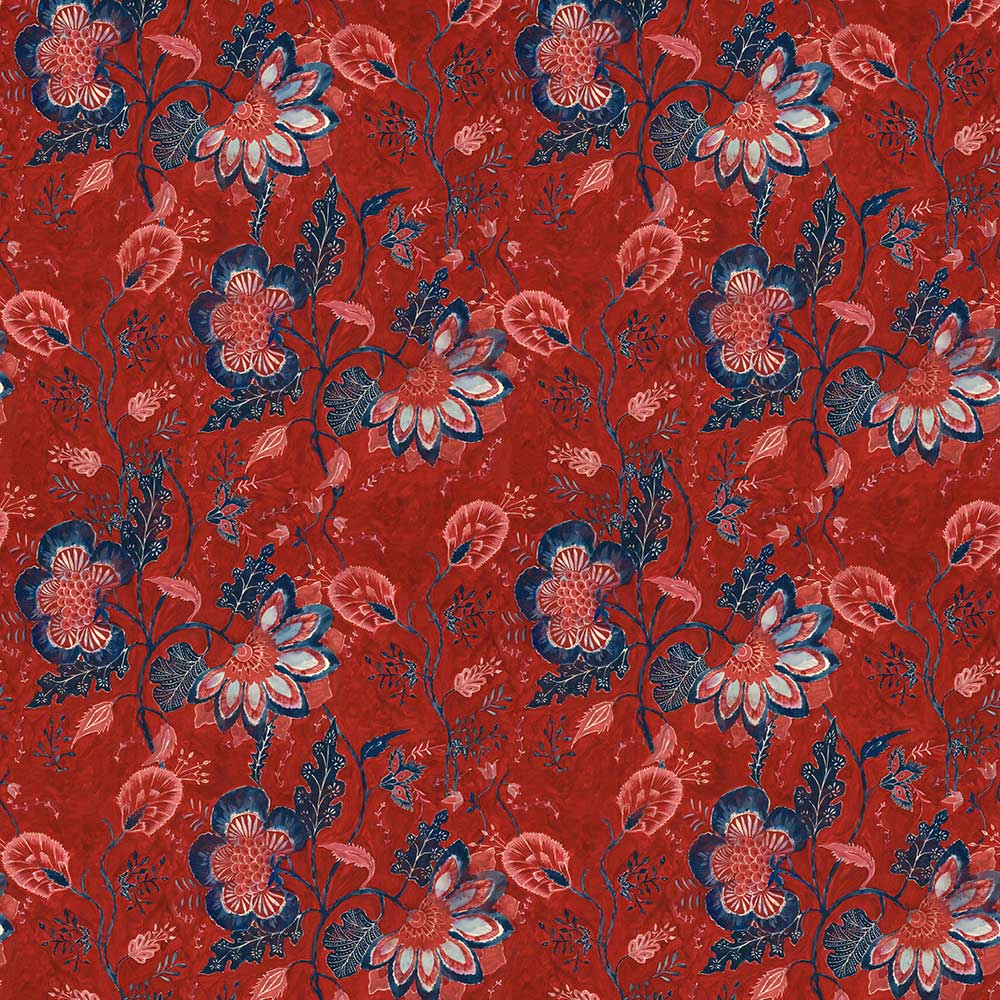 Saxon Tapestry Mural - Red - by Mind the Gap