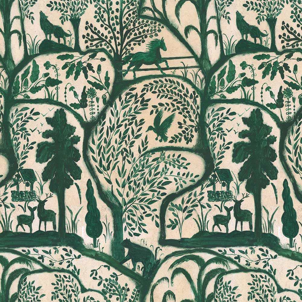 The Enchanted Woodland Mural - Green - by Mind the Gap