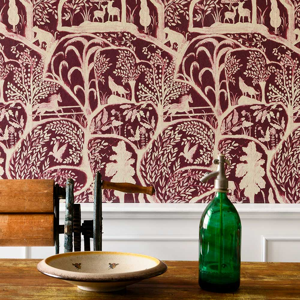 The Enchanted Woodland Mural - Red - by Mind the Gap