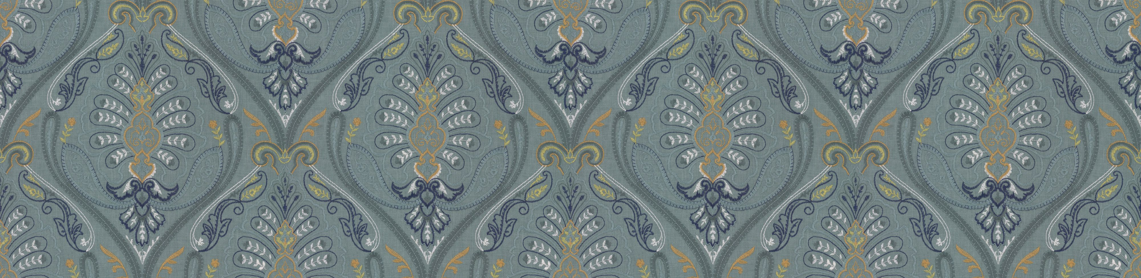 St Kitts Fabric - Lagoon - by Prestigious