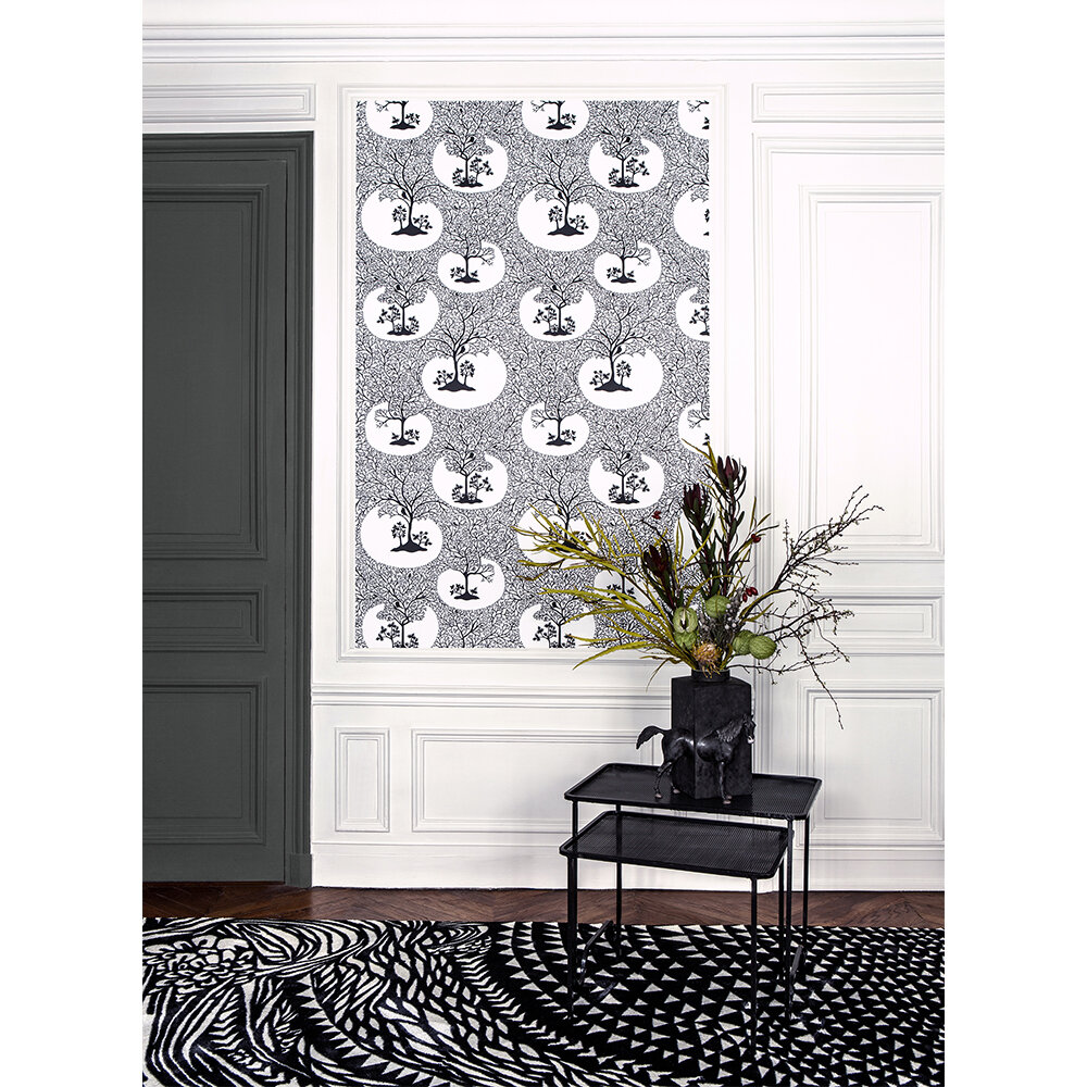 Magical Forest Wallpaper - Classic Black and White - by Sacha Walckhoff x Graham & Brown