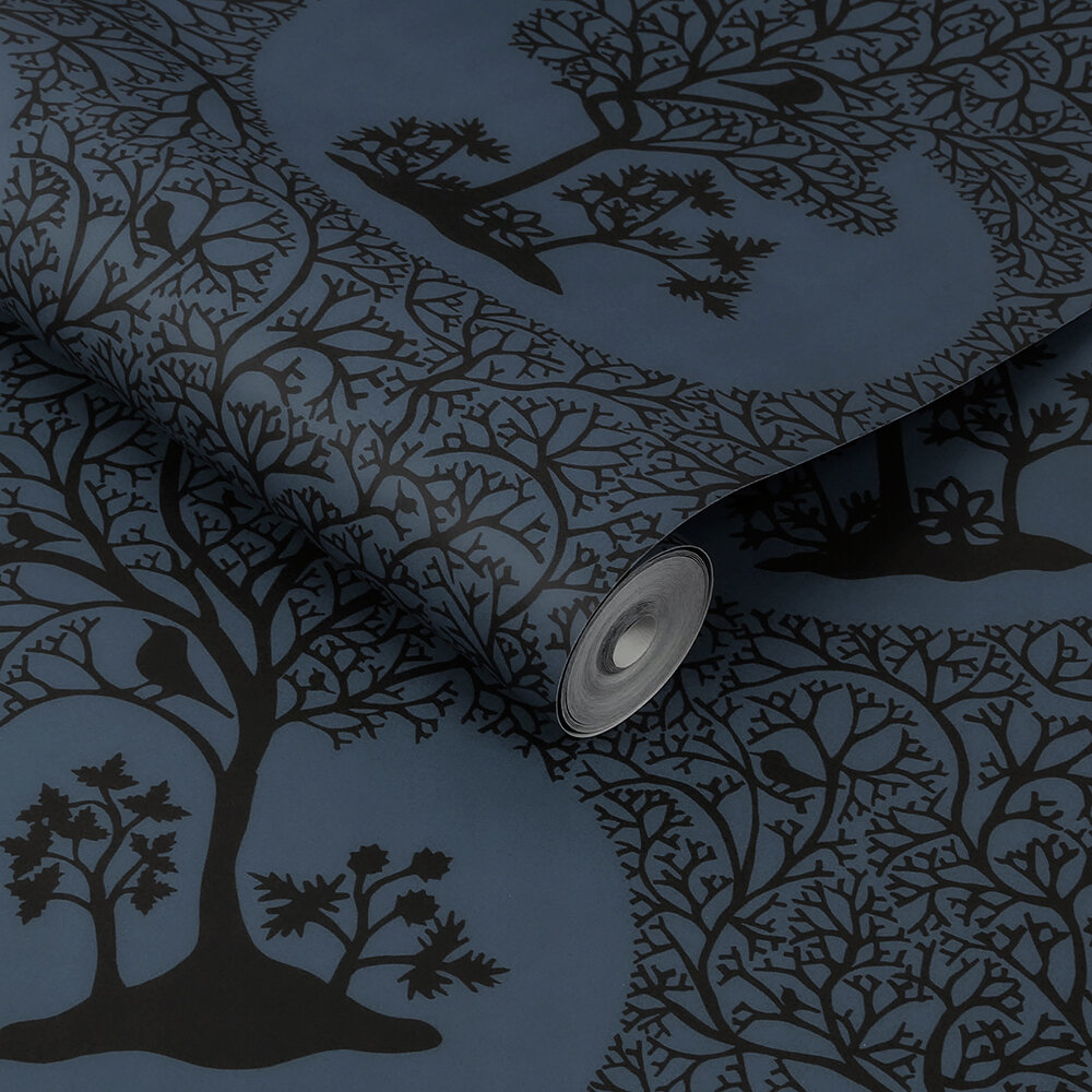 Magical Forest Wallpaper - Midnight - by Sacha Walckhoff x Graham & Brown