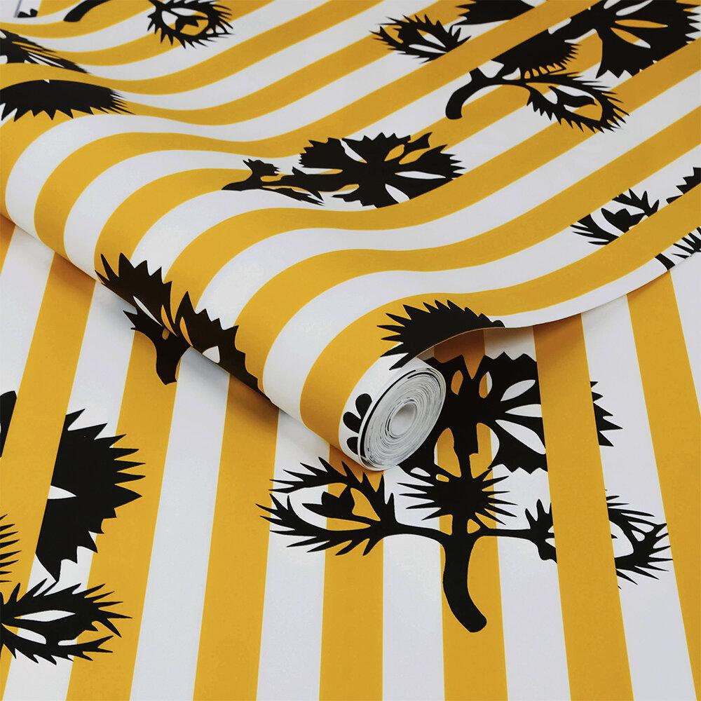 Hide and Seek Wallpaper - Mustard - by Sacha Walckhoff x Graham & Brown