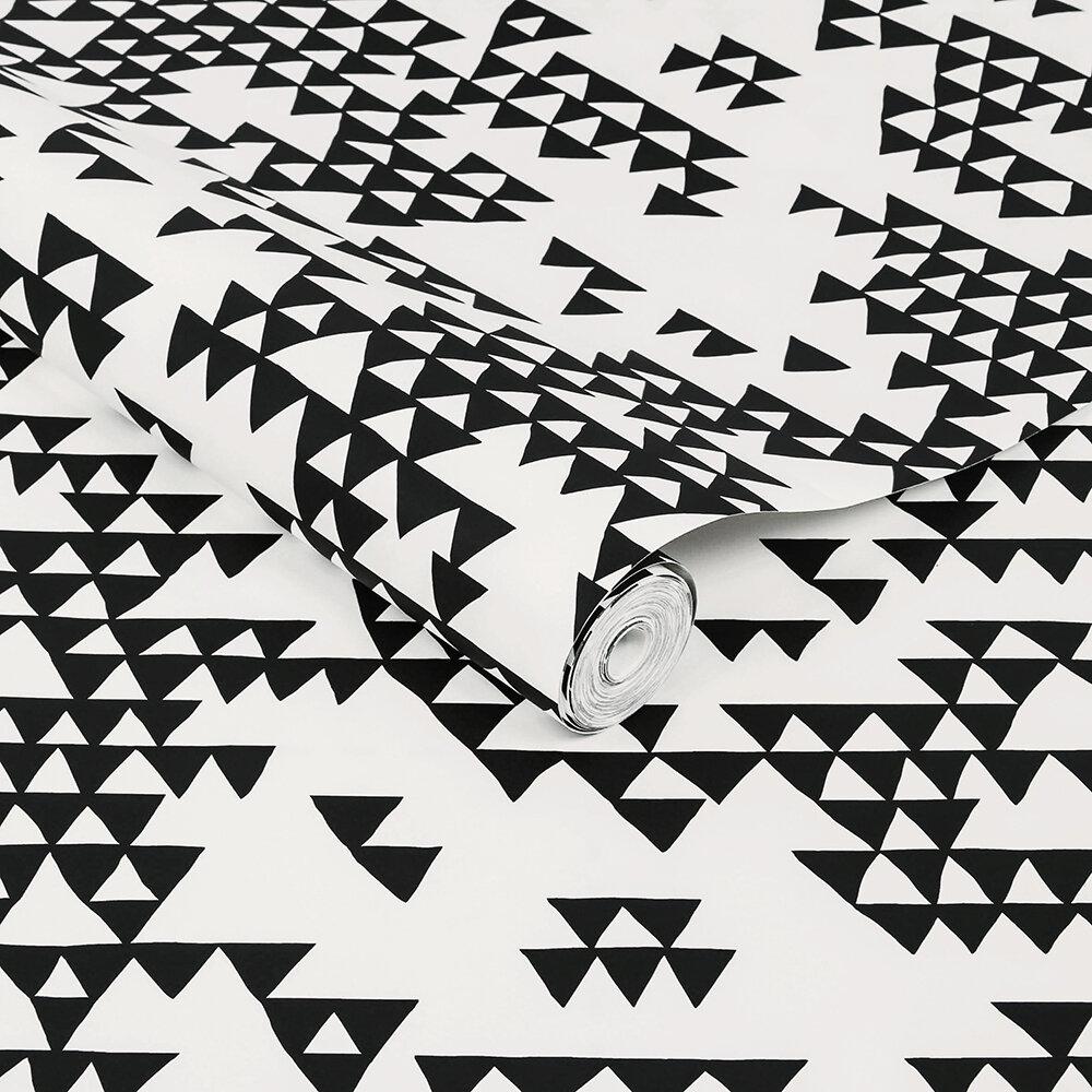 Secret Mountain Wallpaper - Black and White - by Sacha Walckhoff x Graham & Brown