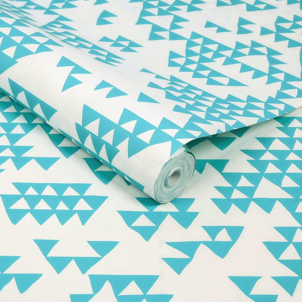 Secret Mountain Wallpaper - Azure - by Sacha Walckhoff x Graham & Brown
