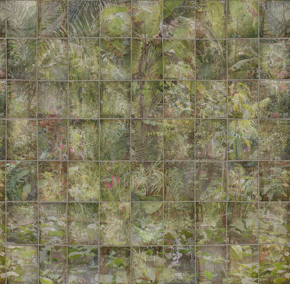 Makino Mural - Leaf Green - by Osborne & Little
