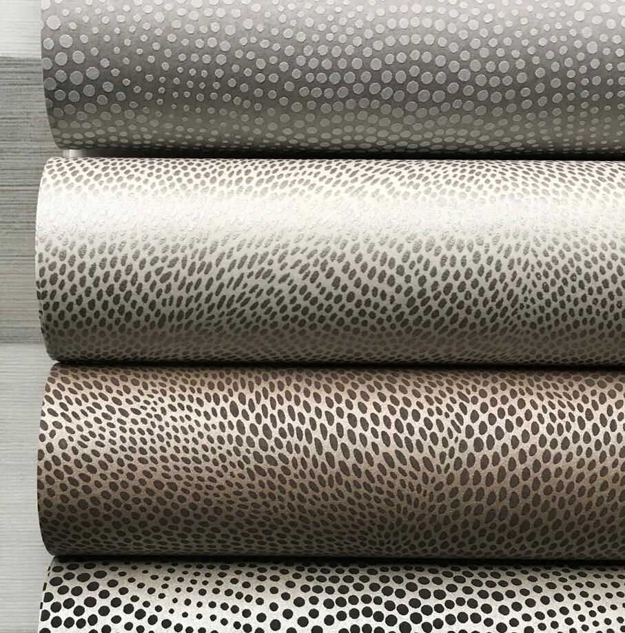 Uroko Wallpaper - Gilver/ Charcoal - by Osborne & Little