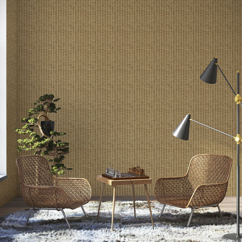 Design 7 Wallpaper - Natural & Jute Colour Story - Brown - by Coordonne