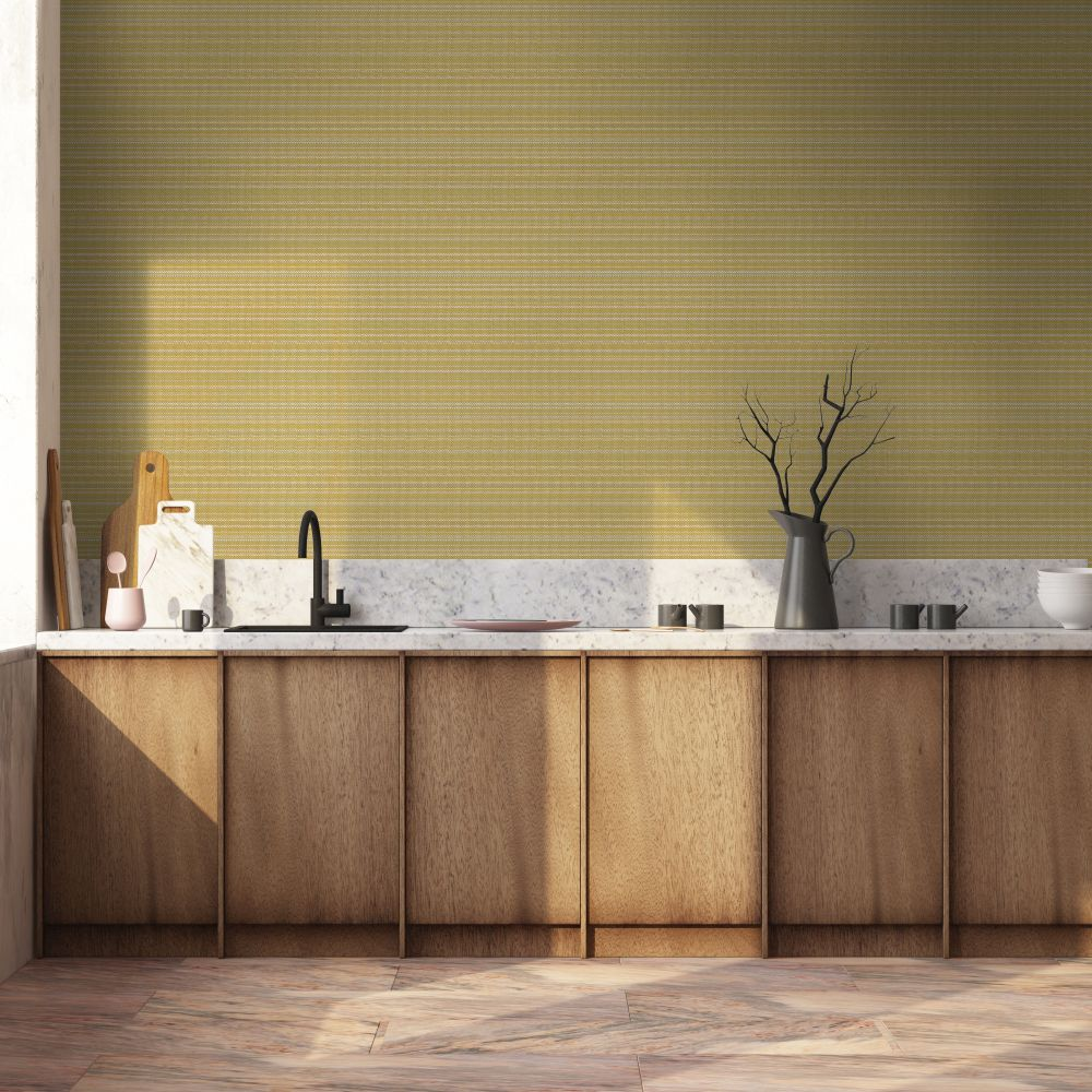 Design 10 Wallpaper - Vanille & Pistache Colour Story - Yellow - by Coordonne