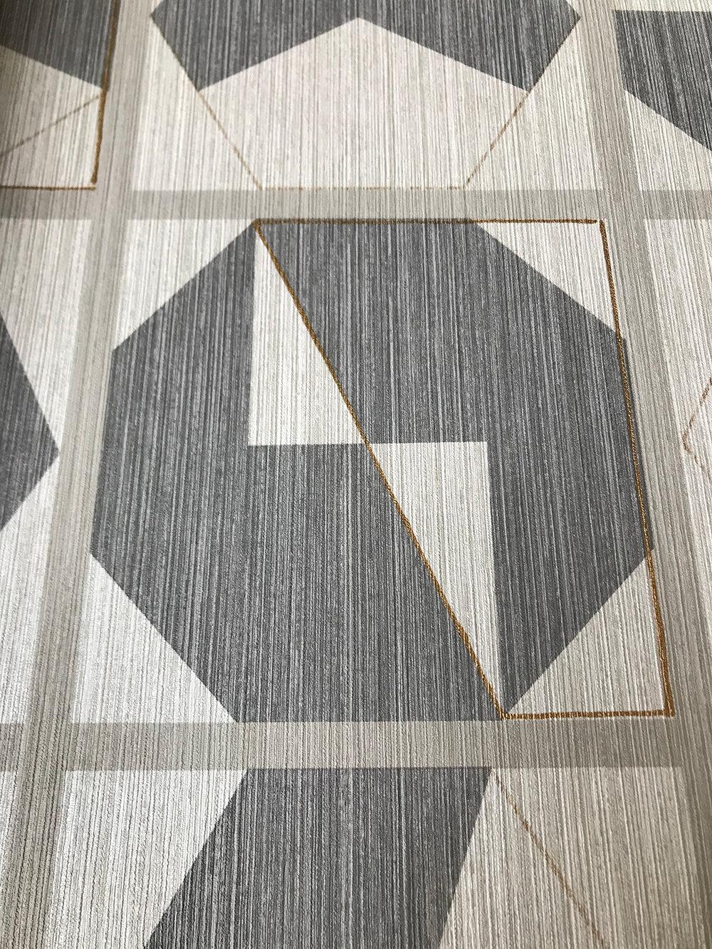 Kutani Vinyl Wallpaper - Silver/ Stone - by Osborne & Little