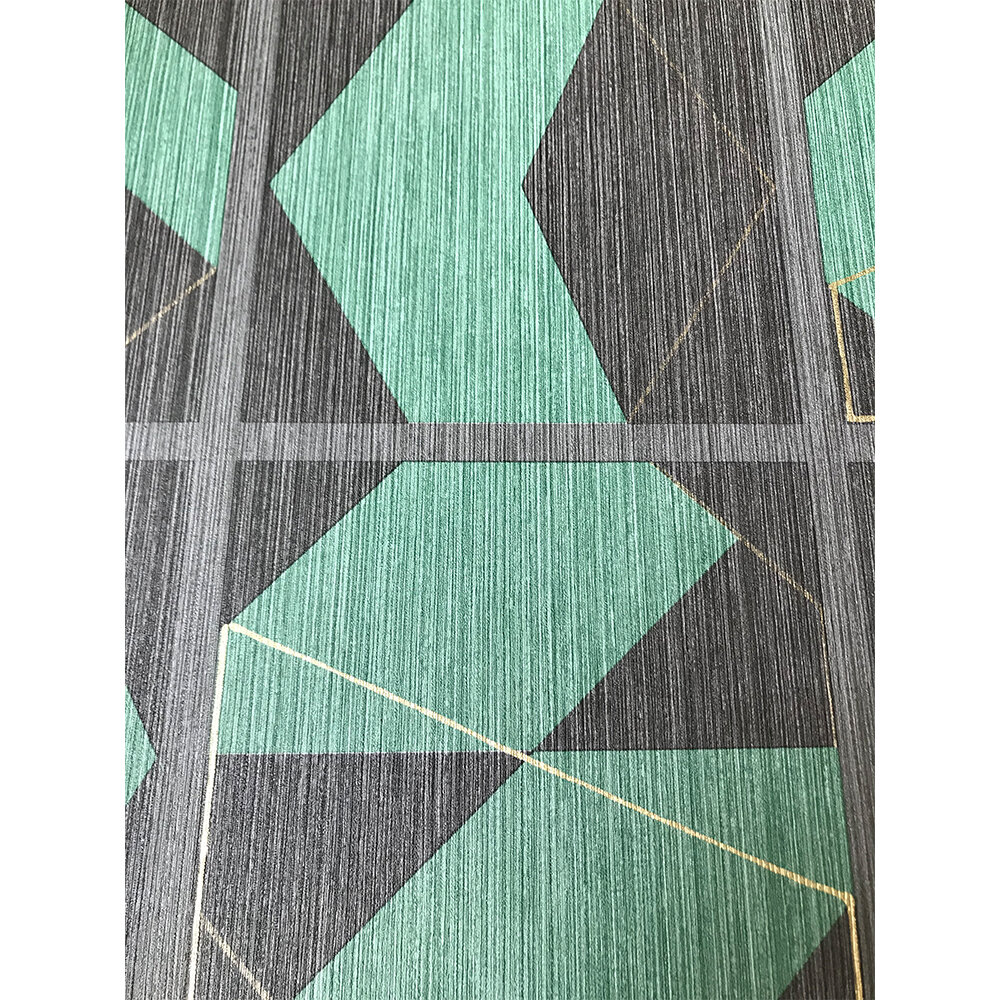 Kutani Vinyl Wallpaper - Emerald/ Charcoal - by Osborne & Little