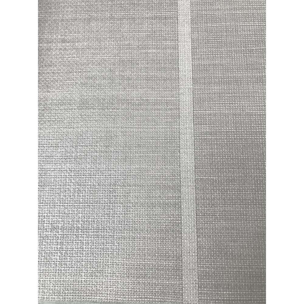 Shoji Vinyl Wallpaper - Silver - by Osborne & Little