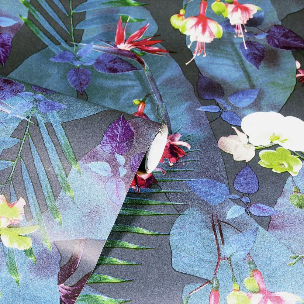 Pindorama Wallpaper - Navy - by Arthouse