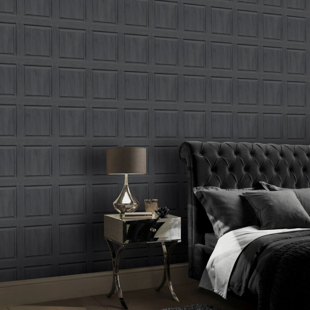 Washed Panel Wallpaper - Grey - by Arthouse